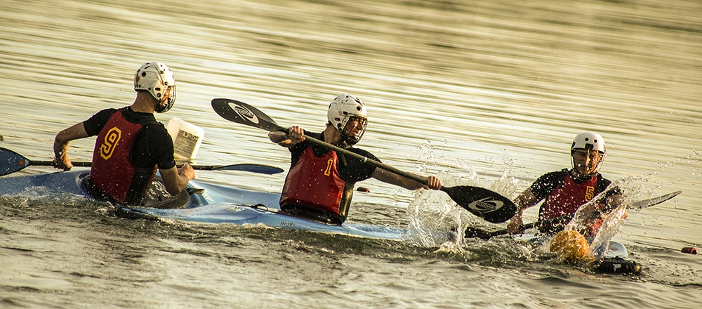 Kanusportler auf dem Stausee Glauchau
