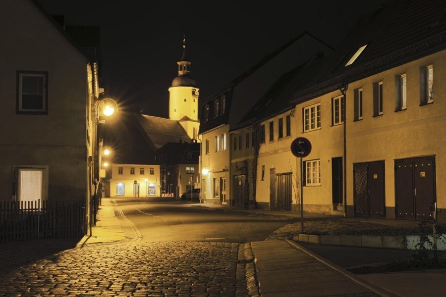 Zwinger mit Blick auf die Georgenkirche