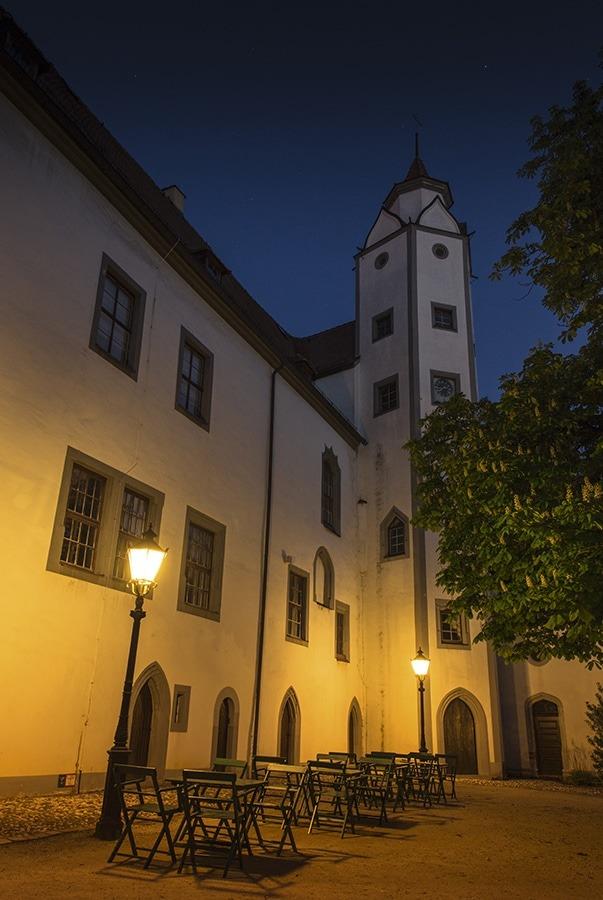Innenhof Schloß Hinterglauchau
