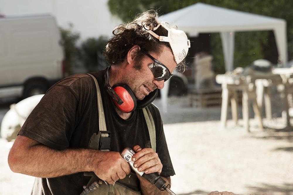Silvio Ukat bei der Arbeit